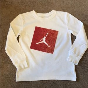 White NIKE Long Sleeve Michael Jordan Shirt, sz 6